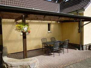 Ferienhaus Grevensberg Terasse
